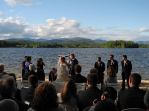 Wedding on Kezar lake