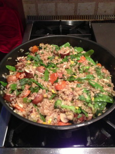 Fried rice ready to eat
