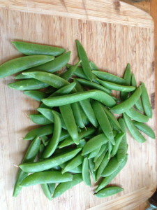 Sugar peas sauteed with fresh taragan